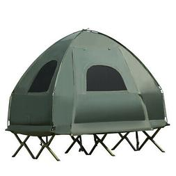 2-Person Compact Portable Pop-Up Tent/Camping Cot with Air M