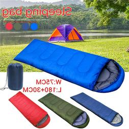 210x75CM Sleeping Bag 1 Person Zip Hiking Camping Suit Case