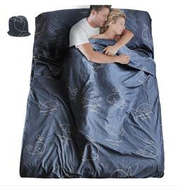 7.5' Long Lightweight Sleeping Bag Liner of Poly Cotton for