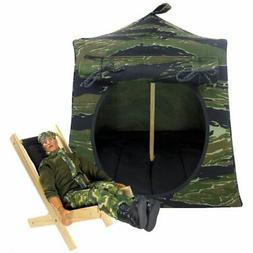 Camouflage print Toy Play Fabric Pop Up Camping Tent, 2 Slee