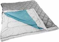Double Sleeping Bag 2-way Warm Cozy 2 Person Adult Camping B