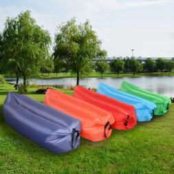 """Inflatable Camping Bed Outdoor Portable Sleeping Bag 74"""" L x"""