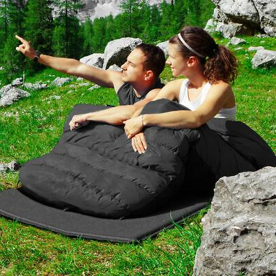 Double Person Sleeping Bag Waterproof w/ Pillows Camping Queen XL
