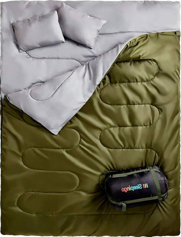 double sleeping bag for backpacking camping or