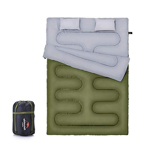 naturehike double sleeping bag for backpacking camping