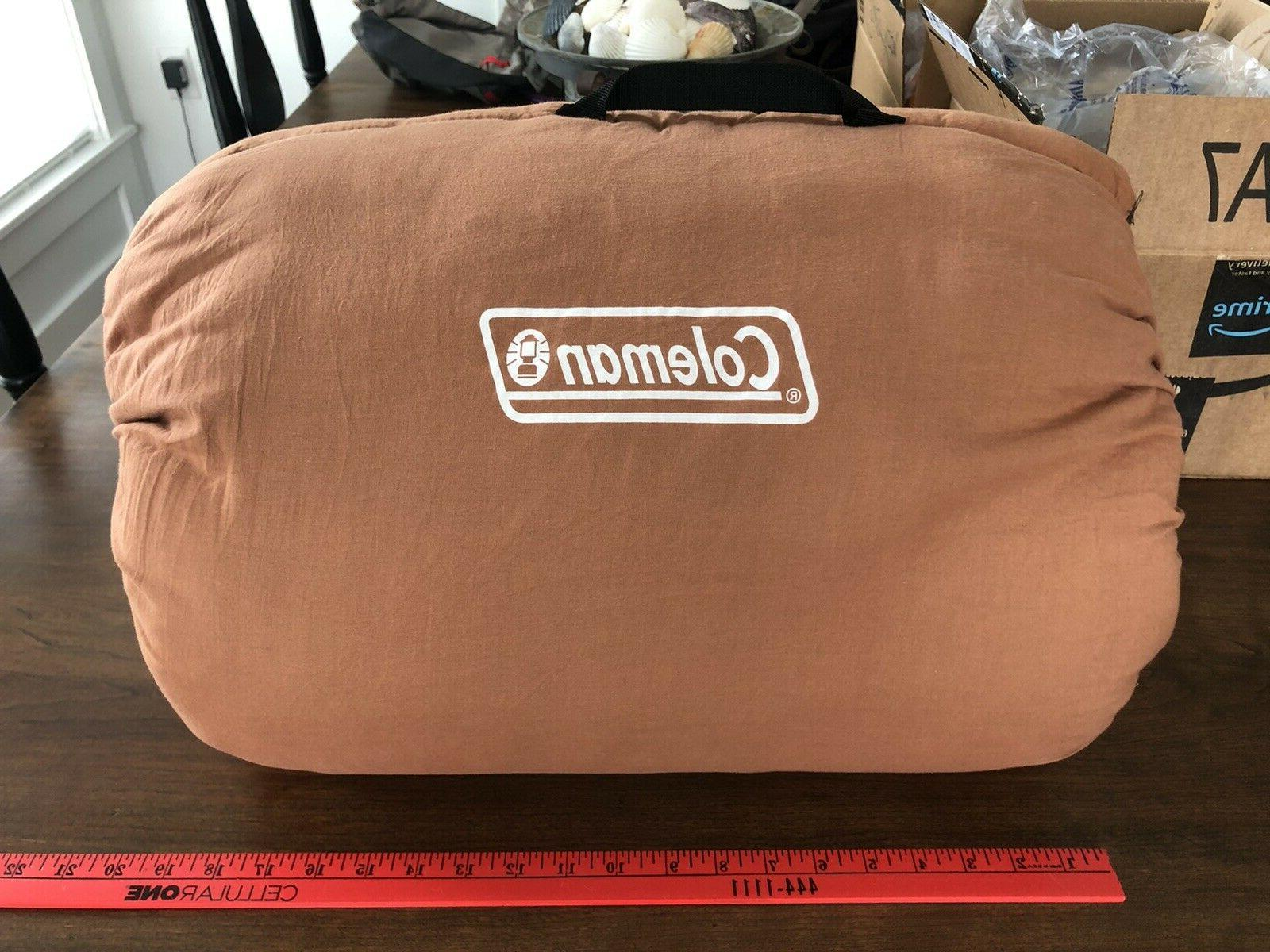 NEW Coleman Dunnock Weather Camping Adult Sleeping Bag Cotton Flannel