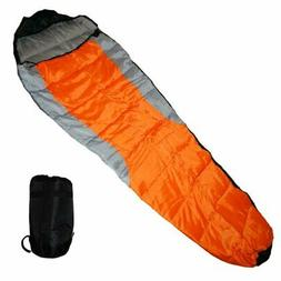 Adult Mummy Type Camping Sleeping Bag with Carrying Case - O