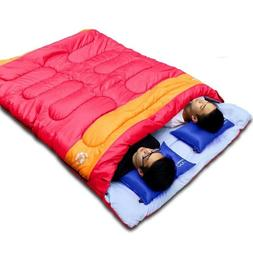 Sleeping Bag Outdoor Camping Adult Double Person Couple Trav