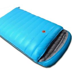 Sleeping Bag Ultralight Camping Double Envelope Duck Down Co