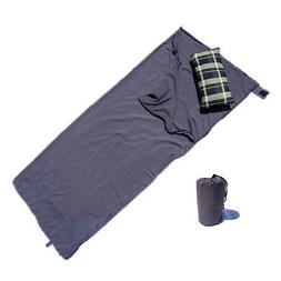 """Sleeping Bags Liners Rectangle Poly in Grey 33""""W x 80""""L"""