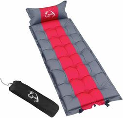 """Wind Tour Sleeping Pad with Pillow Inflated Size: 78.4""""x25.6"""